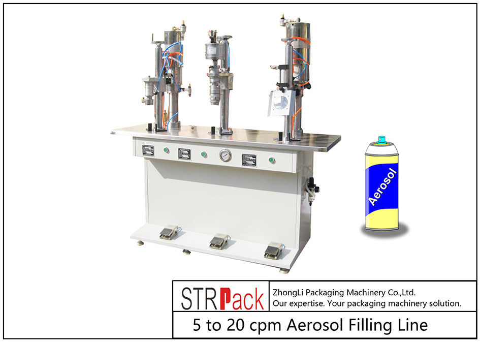 Semi-auto Aerosol Filling Machine