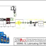 Automatic 500ML-5L Lubricating Oil Filling Line