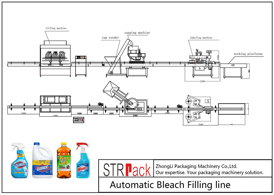 Automatic Bleach Filling Line