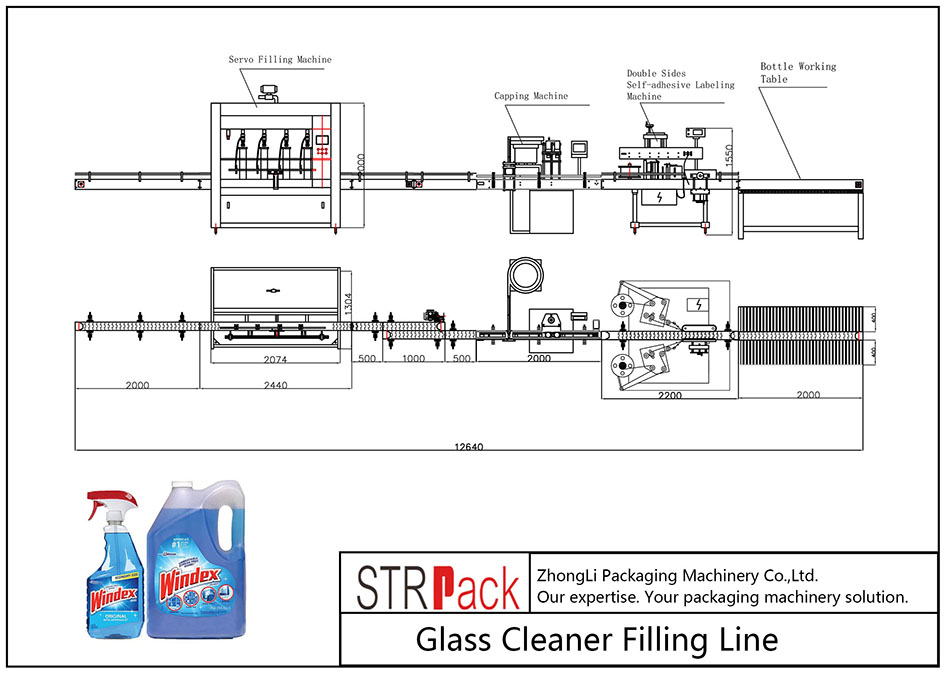 Automatic Glass Cleaner Filling Line