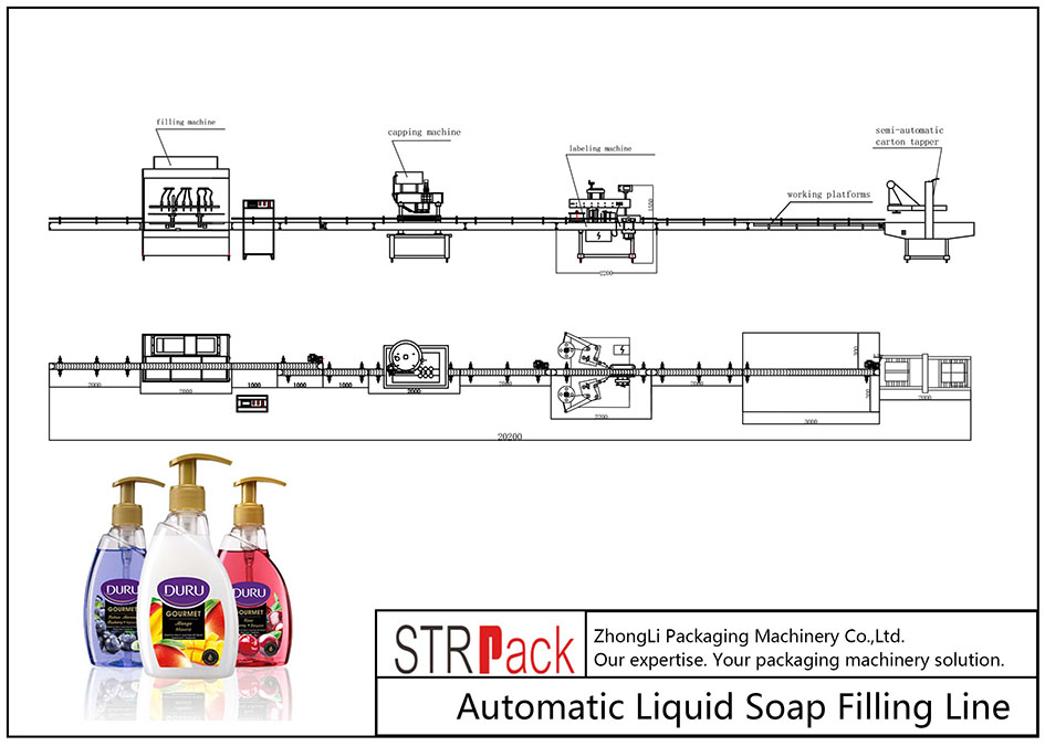 Automatic Liquid Soap Filling Line