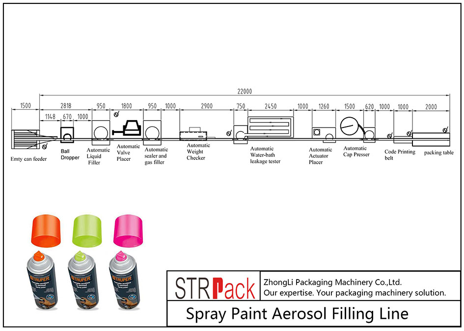 Automatic Spray Paint Aerosol Filling Line