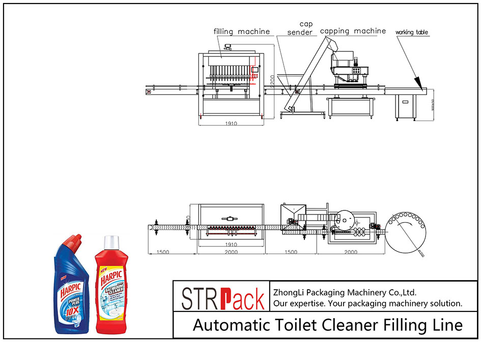 Automatic Toilet Cleaner Filling Line