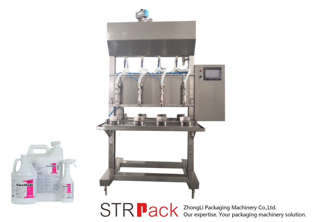 Semi Automatic Time Gravity Liquid Filling Machine